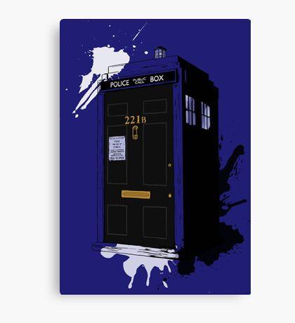 Dr Sherlock Who Canvas Print
