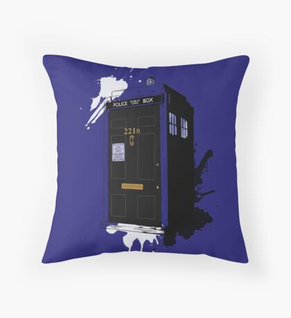 Dr Sherlock Who Throw Pillow