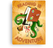 Reading Is Adventure Canvas Print