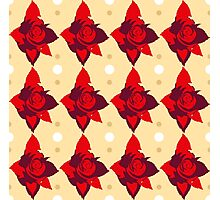 Vintage red rose texture 1 Photographic Print