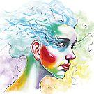 Blue Hair 1 by Daniel Savoie