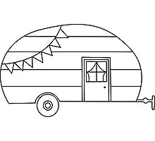 Camping Trailer Sticker Photographic Print