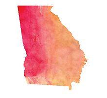 Georgia Watercolor Photographic Print