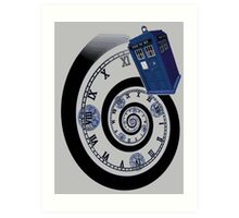 The Twelfth Doctor - time spiral (no white outline) Art Print