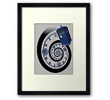 The Twelfth Doctor - time spiral (no white outline) Framed Print