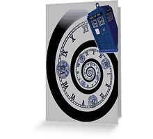 The Twelfth Doctor - time spiral (no white outline) Greeting Card