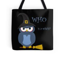 Halloween blue witch owl Tote Bag