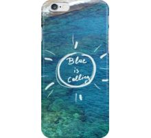 Blue is calling. iPhone Case/Skin