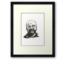 Graphic Zombie Painting Framed Print
