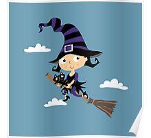 Kleine nette Hexe - Cute Little Witch Poster