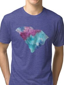 South Carolina Watercolor Tri-blend T-Shirt