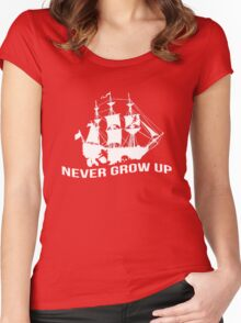 Peter Pan - Never grow up Women's Fitted Scoop T-Shirt