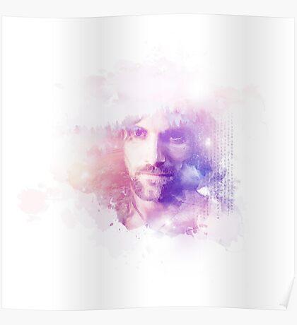 Aragorn Watercolor Splash Art Poster