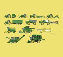 Farm Vehicles - The Kids' Picture Show - Pixel Art Kids Tee