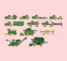 Farm Vehicles - The Kids' Picture Show - Pixel Art Kids Tee