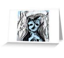 Snow standing guard Greeting Card