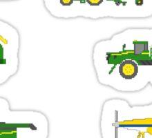 Farm Vehicles - The Kids' Picture Show - Pixel Art Sticker