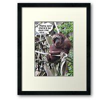 Funny Orangutang With a Headache Framed Print