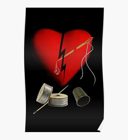 SILVER THREADS AND GOLDEN NEEDLES CANNOT MEND THIS HEART OF MINE  - PICTURE  AND OR CARD Poster