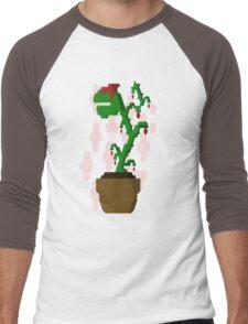 Potted Monster Plant Men's Baseball ¾ T-Shirt