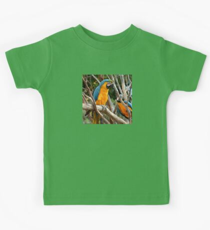 Blue And Gold Macaw  Kids Tee
