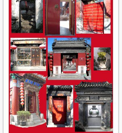 Doors of China Sticker