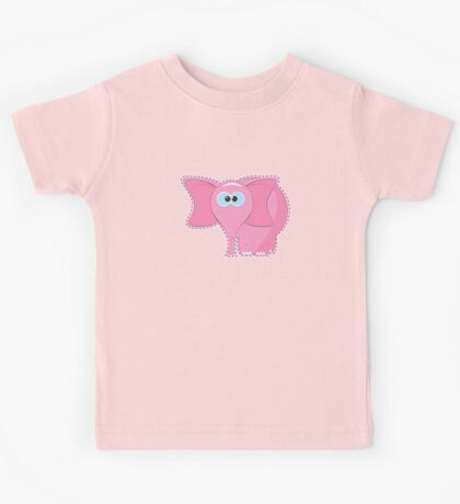 funny pink elephant cartoon Kids Tee