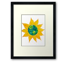 Watercolor Earth Flower Framed Print