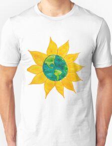 Watercolor Earth Flower Unisex T-Shirt