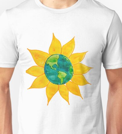 Watercolor Earth Flower Unisex T-Shirt