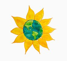 Watercolor Earth Flower T-Shirt