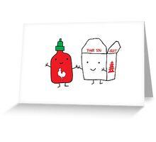 Chinese Food and Sriracha Greeting Card