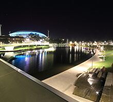 River Torrens, Riverbank Footbridge & Adelaide Oval by BBCsImagery
