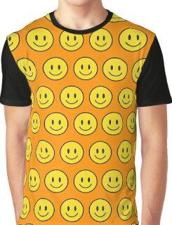 Happy Face fashion texture pattern emoji Graphic T-Shirt