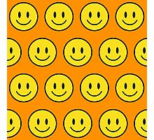 Happy Face fashion texture pattern emoji Photographic Print