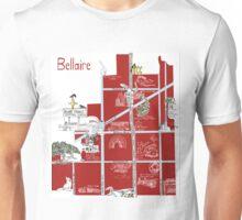 Bellaire, TX Souvenir Map Unisex T-Shirt