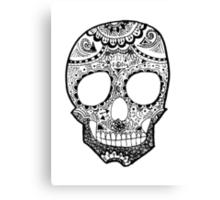 Zentangle Hipster Skull Canvas Print