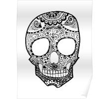 Zentangle Hipster Skull Poster