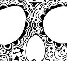 Zentangle Hipster Skull Sticker
