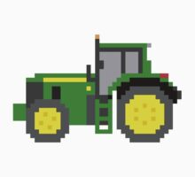 Tractor #2 - The Kids' Picture Show - Pixel Art Kids Tee