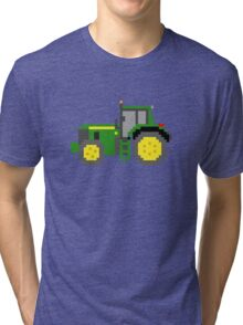 Tractor #2 - The Kids' Picture Show - Pixel Art Tri-blend T-Shirt