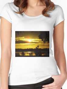 Sunrise At The Lake Women's Fitted Scoop T-Shirt