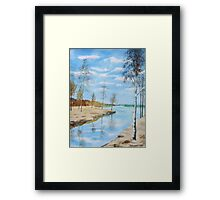 Somewhere In Dalarna Framed Print
