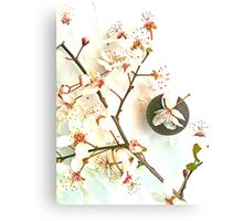 Spring Blossoms And Chocolate Canvas Print