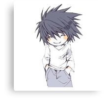 Death Note - Chibi L Canvas Print