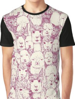 just alpacas cherry pearl Graphic T-Shirt