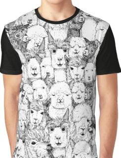 just alpacas black white Graphic T-Shirt