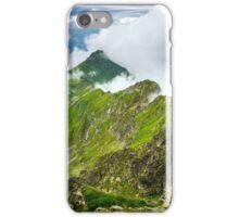 Misty rocky mountains iPhone Case/Skin