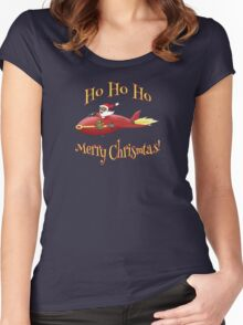 Supersonic Santa Women's Fitted Scoop T-Shirt