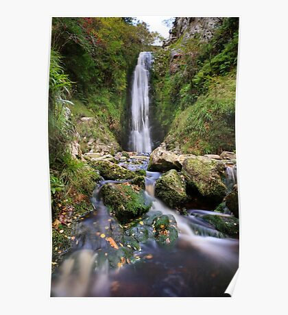 Glenevin Waterfall Poster